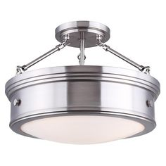 Buy the Canarm Brushed Nickel Direct. Shop for the Canarm Brushed Nickel Boku 3 Light Wide Semi Flush Ceiling Fixture and save. Track Lighting Fixtures, Ceiling Fixtures, Cool Lighting, Ceiling Lights, Nautical Lighting, House Lighting, Bedroom Lighting, Ceiling Fans, Deco Luminaire