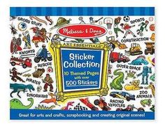 """Over 500 stickers are compiled in one giant sticker book! Each page is packed with stickers to illustrate favorite topics including dinosaurs, construction, outer space and many more. Create a picture or tell a story with these favorite themed stickers. Created by Melissa & Doug.     Dimensions: 14"""" x 11"""" x 0.19"""" Assembled.     Recommended Ages: 3+ years old $4.78"""