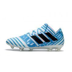 new products 9ba74 1a835 Buy New 2017 Adidas Nemeziz 17.1 FG Soccer Cleats White Blue Black Sale  Online Soccer Shoes