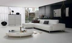 White Leather Sectional Natuzzi