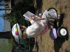 Reading outside = bliss. This would be my daughter!