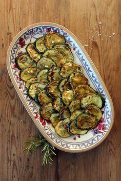 Eingelegte Zucchini - Antipasti (vegan grillen)