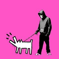 Banksy, Choose your weapon (Bright Pink), 2010