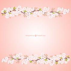 ramas con flores de cerezo Vector Gratis