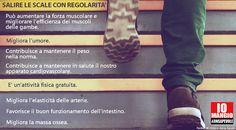 I benefici del salire le scale.  #attivitàfisica #movimento