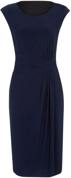 Precis Petite Navy Jersey Dress in Blue (navy) - Lyst