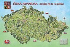 Česká republika Diagram, Map, Location Map, Maps