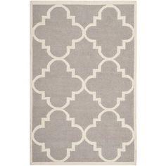 Safavieh Handwoven Moroccan Reversible Dhurrie Dark Grey Wool Area Rug (8' x 10') - Overstock™ Shopping - Great Deals on Safavieh 7x9 - 10x14 Rugs