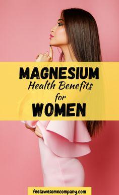 Magnesium is a vital nutrient for women's health and wellness. In this article you'll learn about the health benefits of magnesium for women, as well as some related questions about magnesium rich foods and magnesium deficiency symptoms. Health And Beauty, Health And Wellness, Health Tips, Women's Health, Magnesium Benefits, Health Benefits, Magnesium Deficiency Symptoms, Brain Nutrition, Bone Health