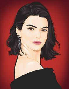 kendall Graphic Design Illustration, Adobe Photoshop, Kendall, Kardashian, Creative, Anime, Art, Art Background, Kunst