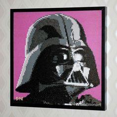 Darth Vader - Star Wars perler bead art by David Nilsson