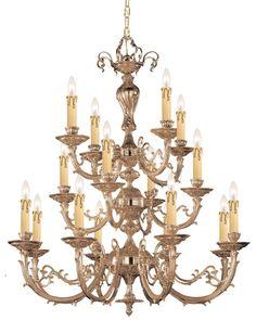 Crystorama 490-OB Etta 16 Light Chandelier, Olde Brass