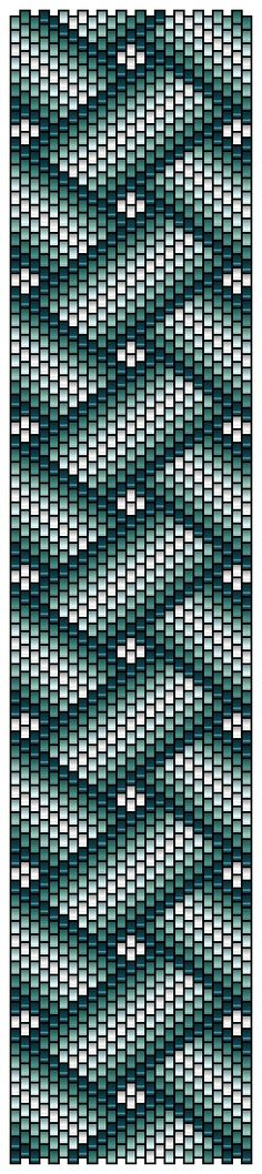 Peyote pattern rubans croisés by Pencio...(would make a great Bargello quilt)....