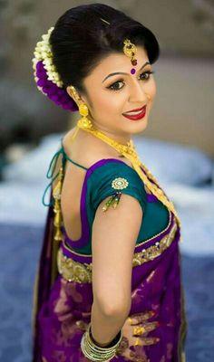 Gold Indian bride with Purple silk Hindu Wedding Ceremony, Saree Wedding, Wedding Bride, Indian Bridal Lehenga, Indian Bridal Wear, Indian Wedding Photography, Wedding Photography And Videography, South Indian Bride, Kerala Bride