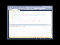 SQL Server Programming Part 5 - IF Statements - IF statements in SQL allow you to check if a condition has been met and, if so, to perform a sequence of actions. This video teaches you everything from the basic syntax of IF statements, including how to use the ELSE clause and perform multiple actions using a BEGIN and END block. We'll also teach you how to nest your IF statements, including a few useful tips on how to make your nested IFs readable!