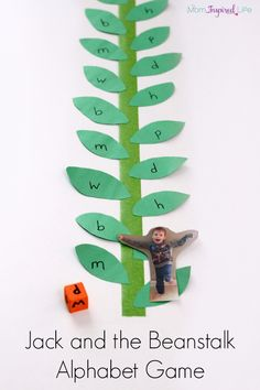 Fairy tale alphabet activity to go with Jack and the Beanstalk.