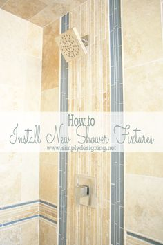 how to install new shower fixtures diy bathroom remodel - Tile Bathroom Remodel