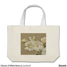 Cluster of White Roses Jumbo Tote Bag