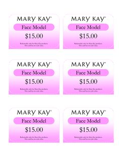 Mary Kay Gift Card I would value your opinion of our new products  page:3