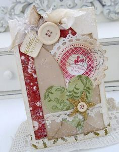 """Winter Wishes & Merry Christmas To You"" Tag by Melissa Phillips, created for Papertrey Ink, via Lilybeanpaperie."