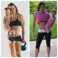 I'm LOVING pictures of fit moms with their kids!!