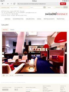 Bar area of the Swissotel Sydney
