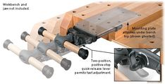 Veritas® Quick-Release Sliding Tail Vise - Lee Valley Tools