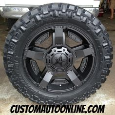 Custom Automotive :: Packages :: Off-Road Packages :: XD Rockstar II RS 2 811 Black - Nitto Trail Grappler Jeep Rims, Jeep Wheels, Truck Rims, Truck Wheels, Chevy Trucks, Rims And Tires, Wheels And Tires, Custom Jeep, Custom Trucks