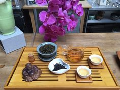 Cupping some flavorful Oolong teas at our facility. Oolong Tea, Bath Caddy, Teas, Tea Time, Table Settings, Tees, Cup Of Tea, Place Settings, Tea