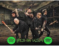 """Thanks to you Knuckleheads out there for making us #13 Most Listened to Rock band on @spotify …"""