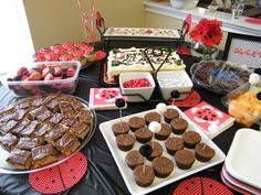 """Photo 1 of 23: Black,White, and Red Ladybug / Baby Shower/Sip & See """"Our little ladybug!"""" 