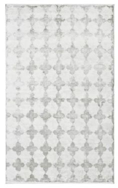 Sasha Hand-Knotted Viscose Rug in Silver design by NuLoom