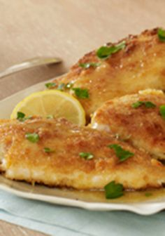 Easy Lemon-Chicken Piccata — Crispy chicken, fresh lemon juice and capers come together for one outstanding dish that's ready to serve at your table any night of the week.
