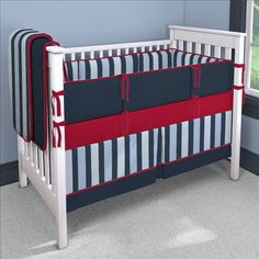 Navy and Red Custom Bedding | Carousel Designs 500x500 image