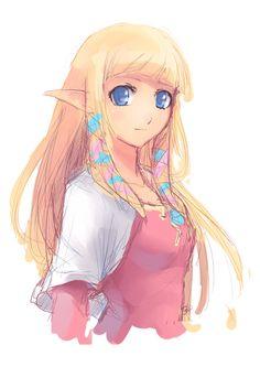 The Legend of Zelda: Skyward Sword, Zelda / Skyward Sword - Zelda :Sketch: by moxie2D on deviantART