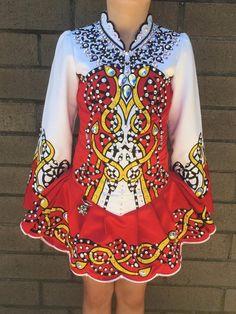 Gorgeous Red Prime Dress Designs Irish Dance Dress Solo Costume For Sale