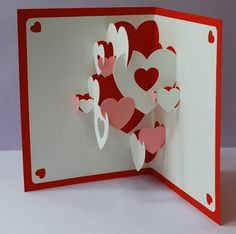 Kirigami - Pop Up Card - Quilling. Azerbaijan Kirigami - Pop up cardDIY Valentine Heart Collage Pop-up Card & 10 Custom Bathtub Coupons - Reserved for TopcValentine Heart Collage Popup Cards Do It by PeadenScottDesignsKuvahaun tulos haulle fold out h Heart Pop Up Card, Heart Cards, Valentine Day Cards, Valentines Diy, Valentine Heart, Pop Up Cards, Love Cards, Diy Valentine's Hearts, Diy Paper