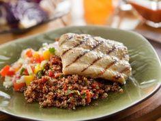 Mojo Mahi Mahi with Toasted Quinoa Recipe | Guy Fieri | Food Network