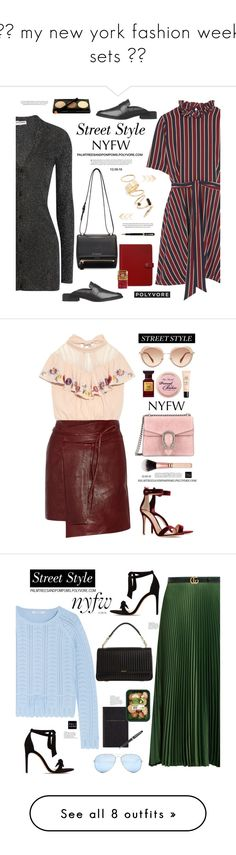 """""""♥︎ my new york fashion week sets ♥︎"""" by palmtreesandpompoms ❤ liked on Polyvore featuring Ganni, Opening Ceremony, BP., Parker, Givenchy, FiloFax, StreetStyle, NYFW, OpeningCeremony and netaporter"""