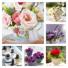 Flowers in a teacup inspirations - diy gift selected by #sfizzy