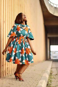 Long Ankara Dresses, Latest Ankara Short Gown, Ankara Short Gown Styles, Short Gowns, African Dresses For Women, African Print Dresses, African Attire, African Prints, African Fabric