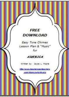 "***FREE*** Easy Tone Chimes or Resonator Bells Lesson Plan & ""Music"""