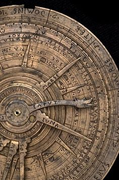 This instrument is clear evidence of the links between the astrolabe and astrology. On one side is an astrolabe for a single latitude, and on the other an astrological volvelle, used to find the positions of planets and other celestial bodies, especially in relation to the traditional astrological houses.