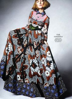 """""""All Print Spring"""" Lou Schoof by Mario Principe for Glamour Spain March 2015"""