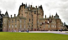 """Glamis Castle (pronounced """"glaams,"""" not glaam is) is known as one of the most haunted castles in Scotland.  It was the home of the late Queen mother of Elizabeth II.  Castles of Scotland: II"""