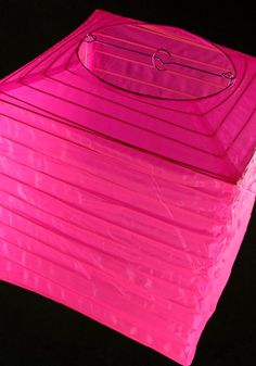 """Nylon  Lanterns 10"""" Square Hot Pink   $6.59 each / 4 for $6 each"""