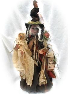 Primtive, Folk Art, Witch JoAnn Palmer Hootnhollarprims https://www.facebook.com/HootnhollarprimsByJoannPalmer