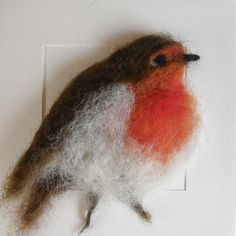 These beautiful three dimensional hand needle felted cards, are all original, made onto quality background card, ideal for every occasion or to. Robin Pictures, Felt Pictures, Needle Felted Animals, Felt Animals, Felt Christmas Decorations, Christmas Cards, Xmas Ornaments, Christmas Ideas, Felt Animal Patterns