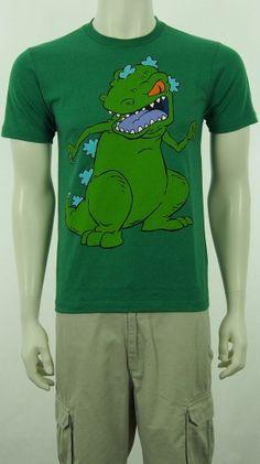 New Nickelodeon Reptar Rugrats Dinosaur T Shirt Sz Small #Nickelodeon #BasicTee