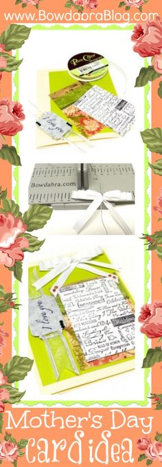 Mothers Day Card idea with a Mini Bowdabra Bow